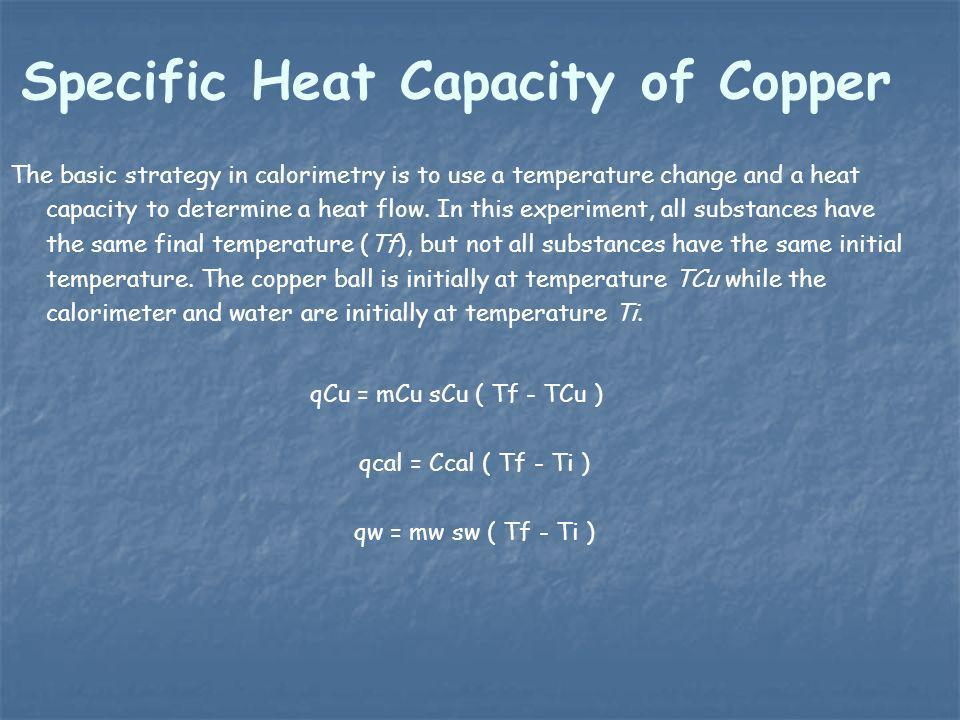 Specific Heat Capacity of Copper