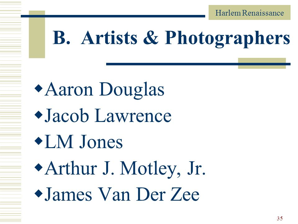 B. Artists & Photographers