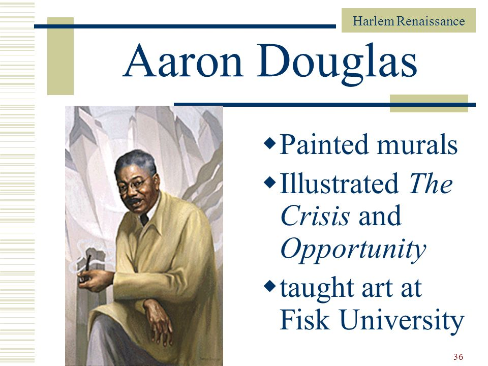 Aaron Douglas Painted murals Illustrated The Crisis and Opportunity