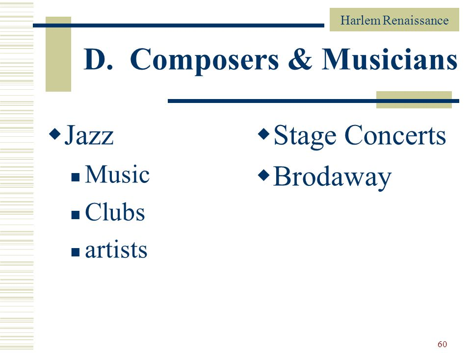 D. Composers & Musicians