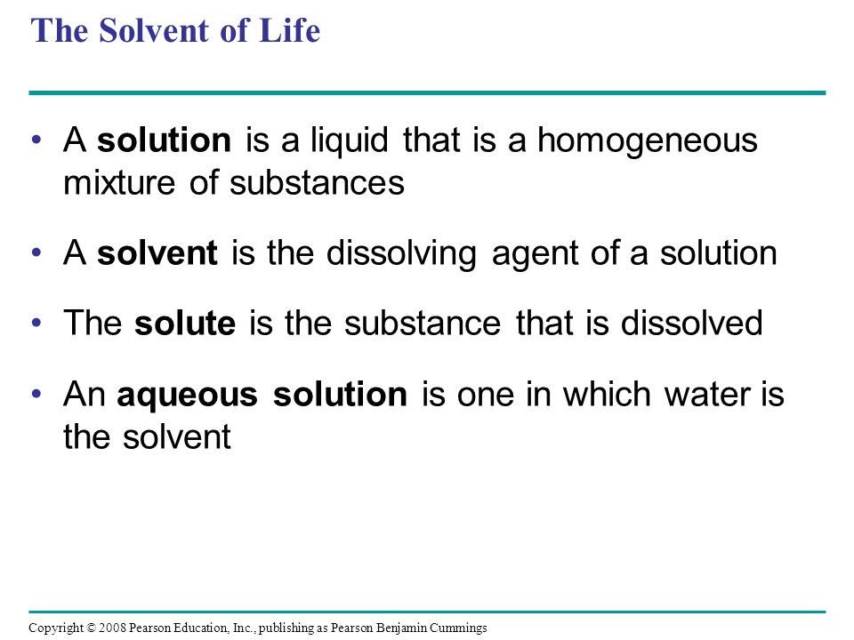 A solution is a liquid that is a homogeneous mixture of substances
