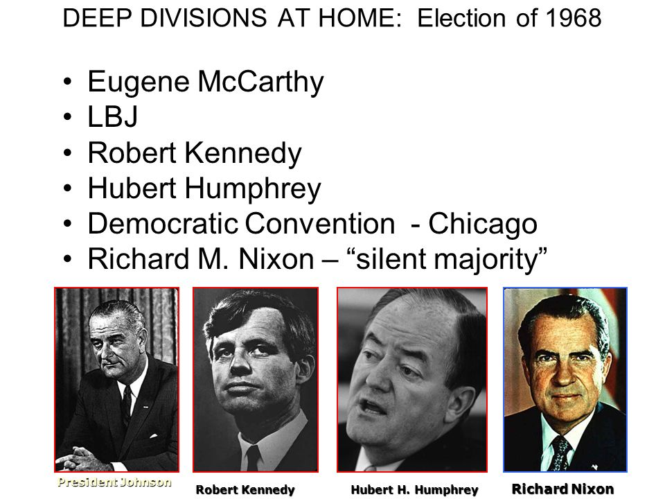 DEEP DIVISIONS AT HOME: Election of 1968