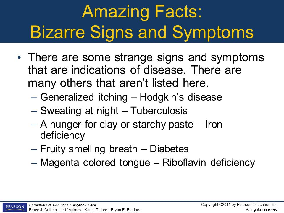 Amazing Facts: Bizarre Signs and Symptoms