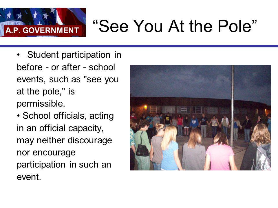 See You At the Pole Student participation in