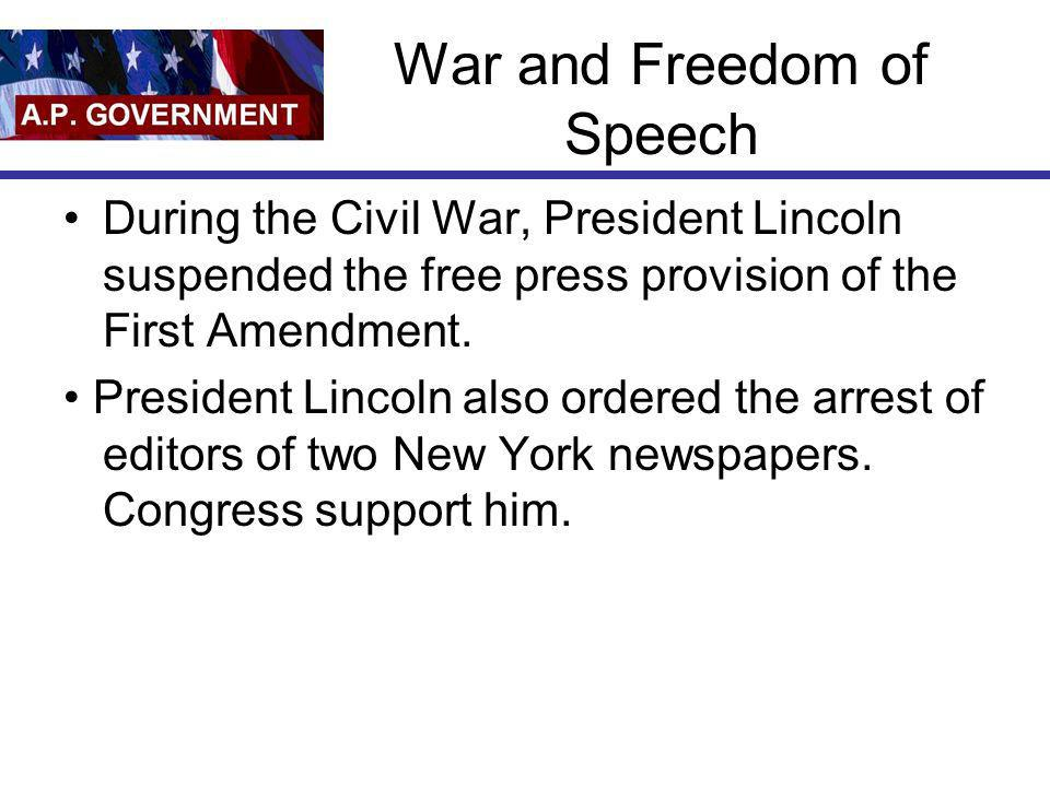 War and Freedom of Speech