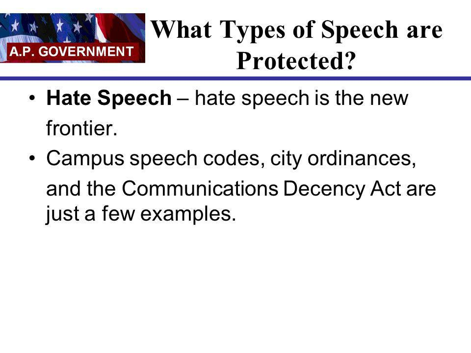 What Types of Speech are Protected