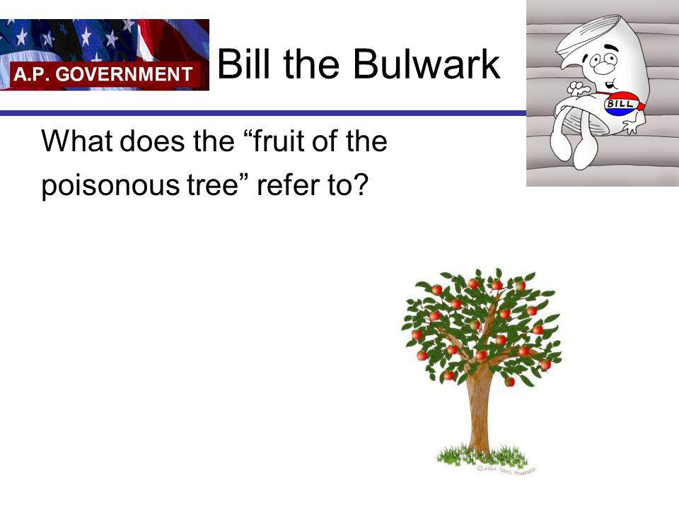 Bill the Bulwark What does the fruit of the poisonous tree refer to