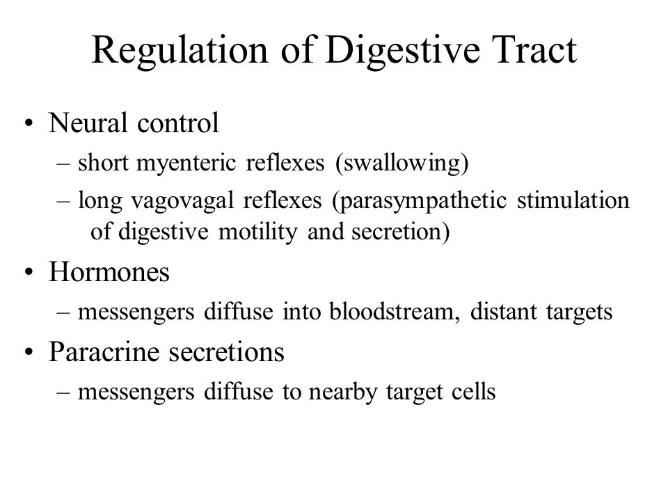 Regulation of Digestive Tract