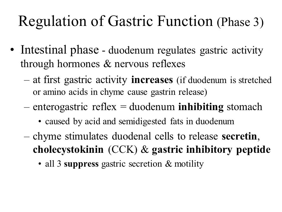 Regulation of Gastric Function (Phase 3)
