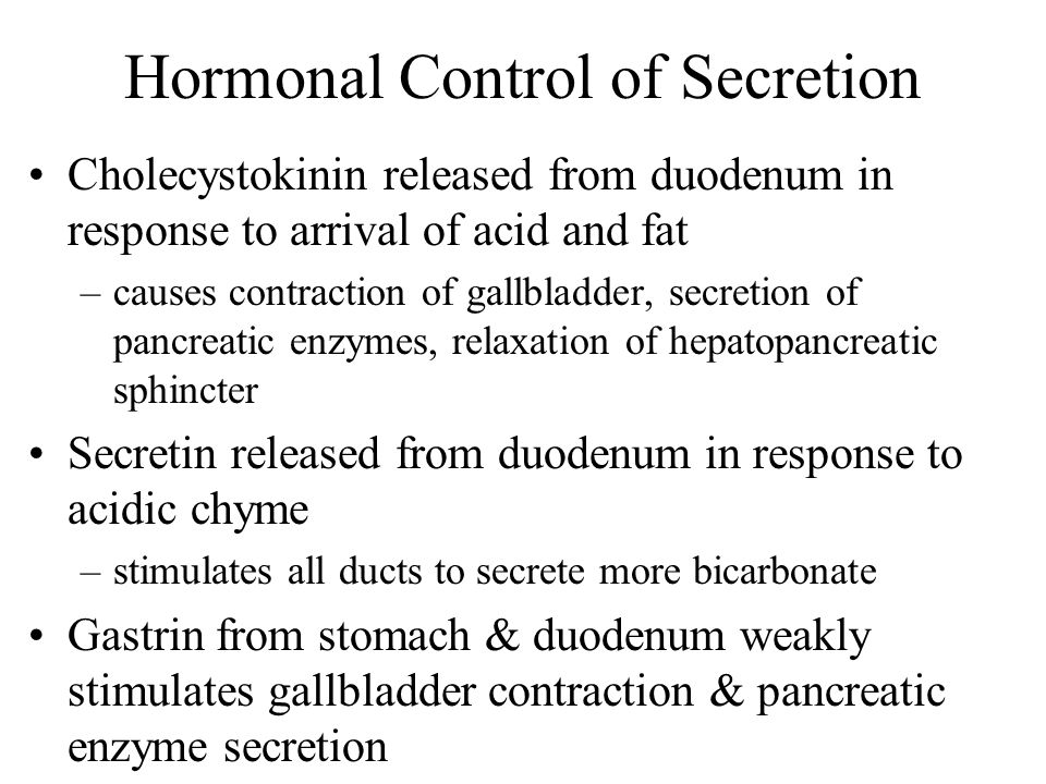 Hormonal Control of Secretion