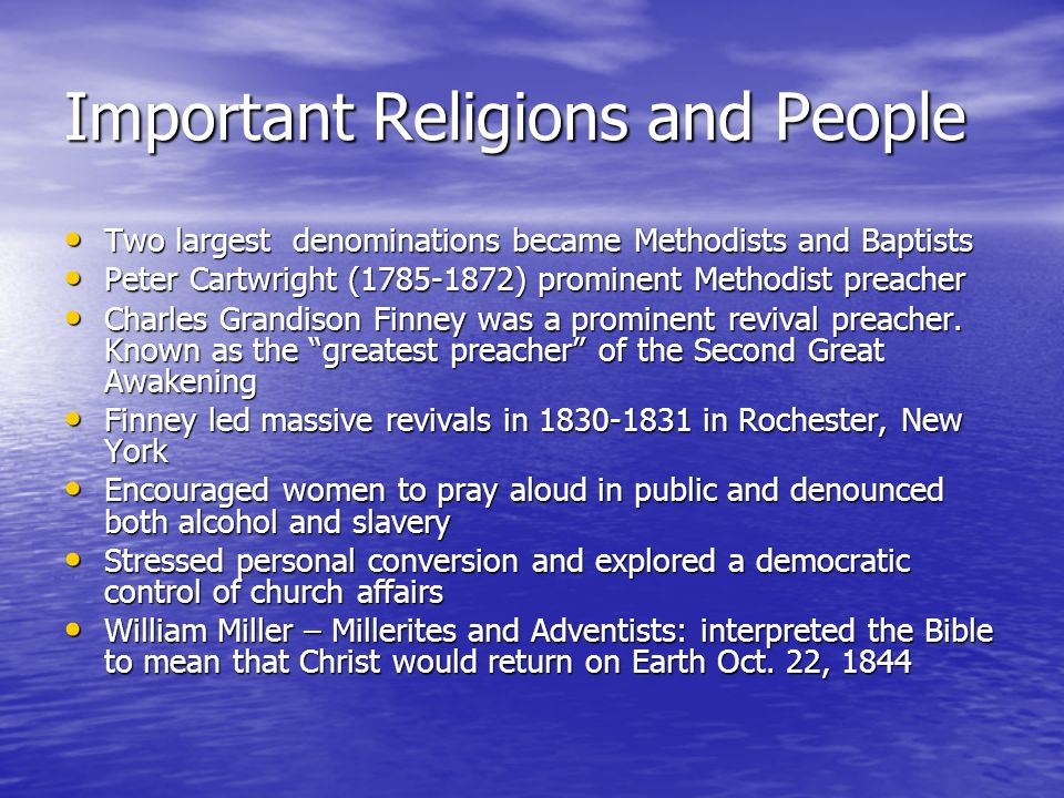 Important Religions and People