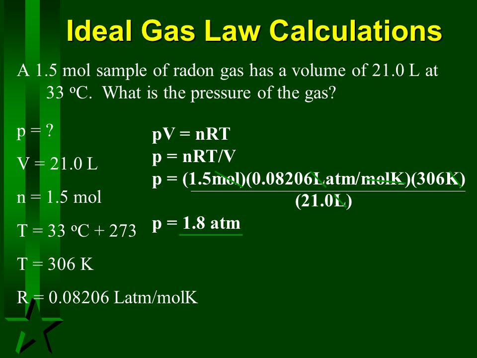 Ideal Gas Law Calculations