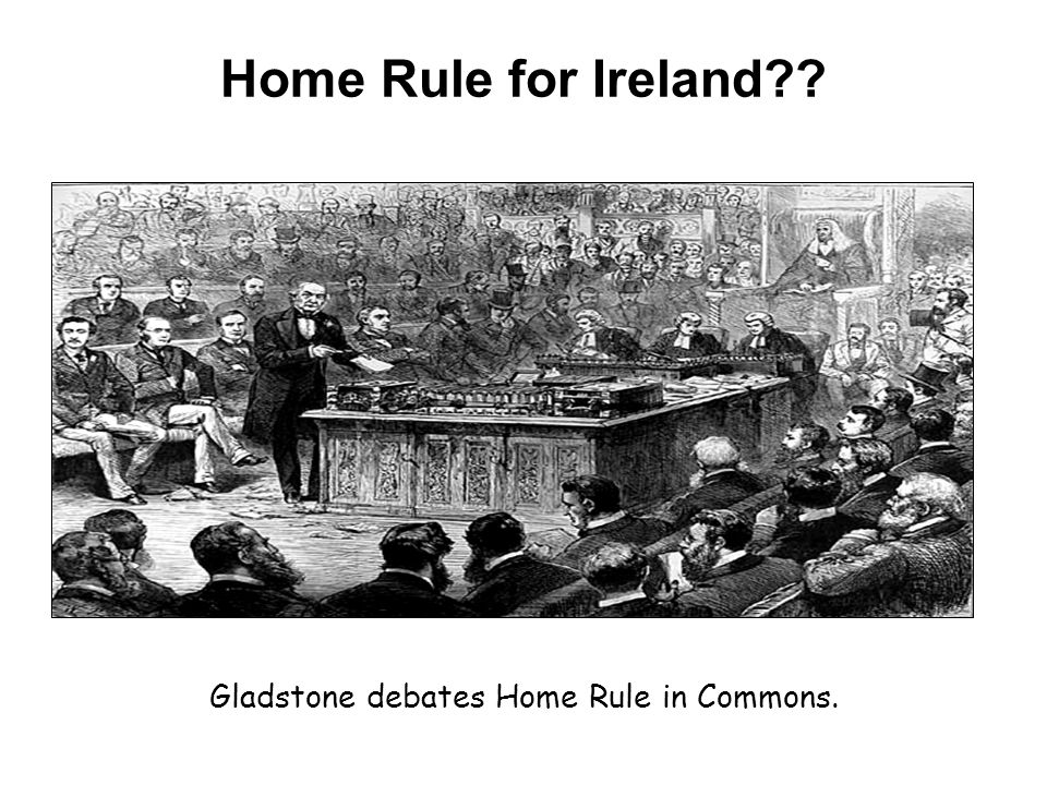 Gladstone debates Home Rule in Commons.