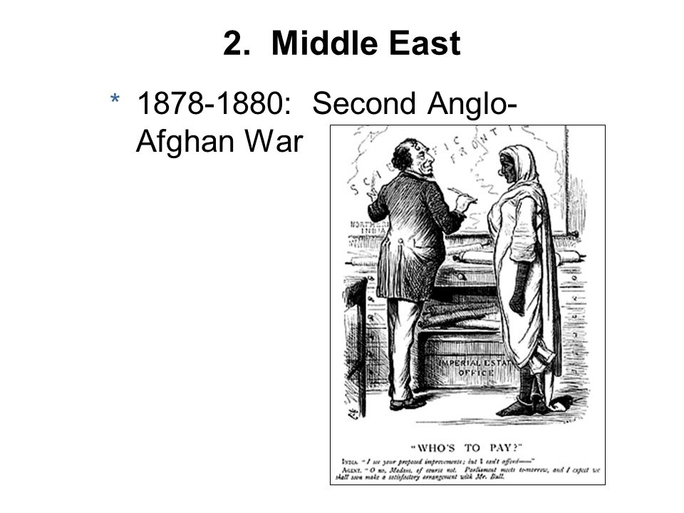 2. Middle East : Second Anglo-Afghan War