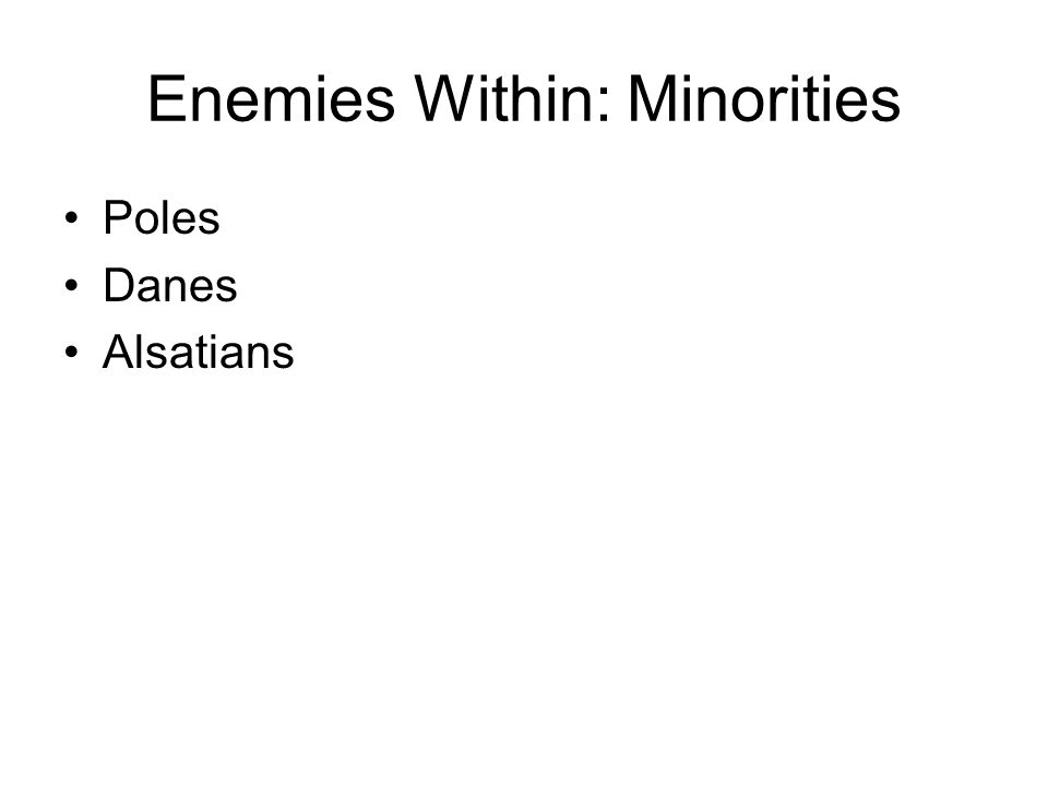 Enemies Within: Minorities