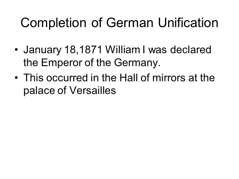 Completion of German Unification