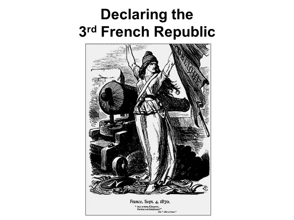 Declaring the 3rd French Republic