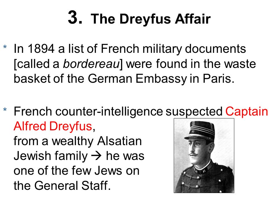 3. The Dreyfus Affair