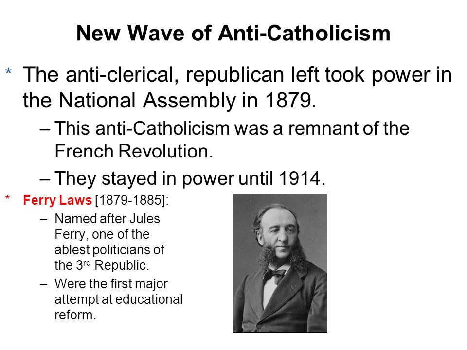 New Wave of Anti-Catholicism