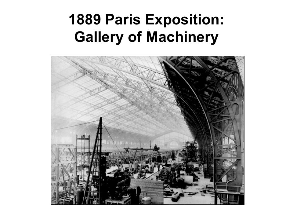 1889 Paris Exposition: Gallery of Machinery