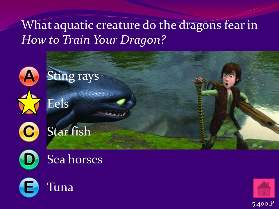 What aquatic creature do the dragons fear in How to Train Your Dragon