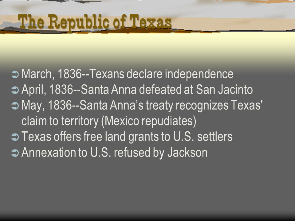 The Republic of Texas March, Texans declare independence