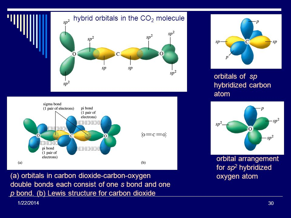 hybrid orbitals in the CO2 molecule