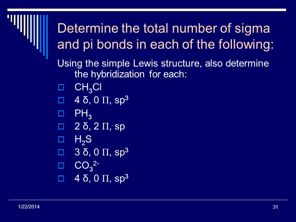 Determine the total number of sigma and pi bonds in each of the following: