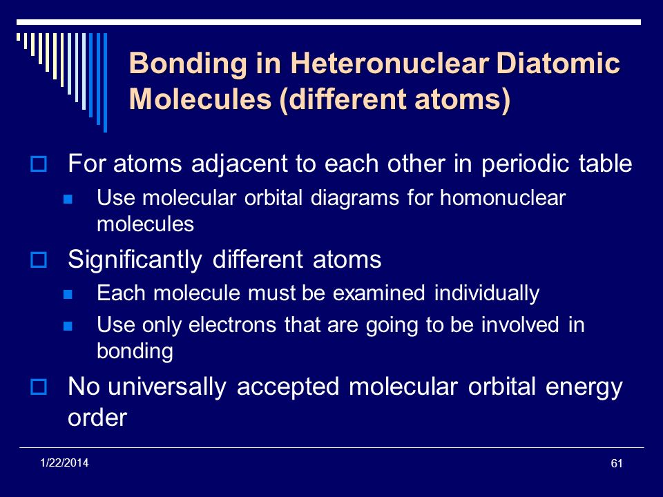 Bonding in Heteronuclear Diatomic Molecules (different atoms)