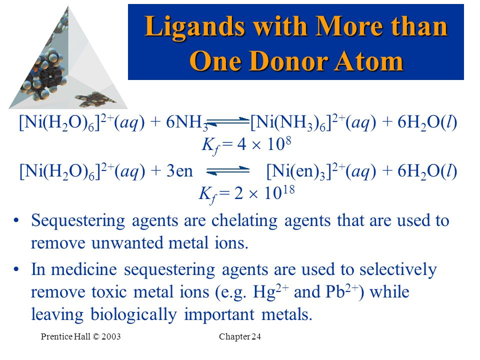 Ligands with More than One Donor Atom