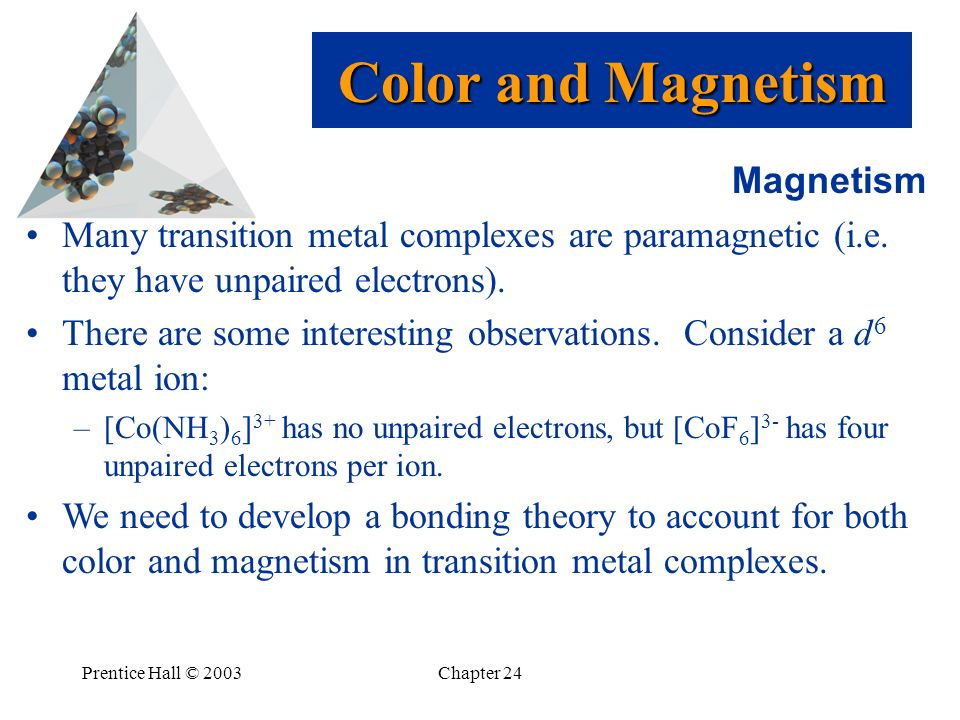 Color and Magnetism Magnetism
