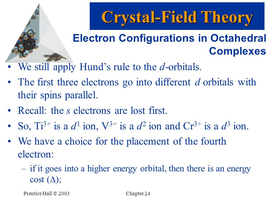 Crystal-Field Theory Electron Configurations in Octahedral Complexes