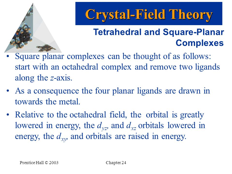 Crystal-Field Theory Tetrahedral and Square-Planar Complexes