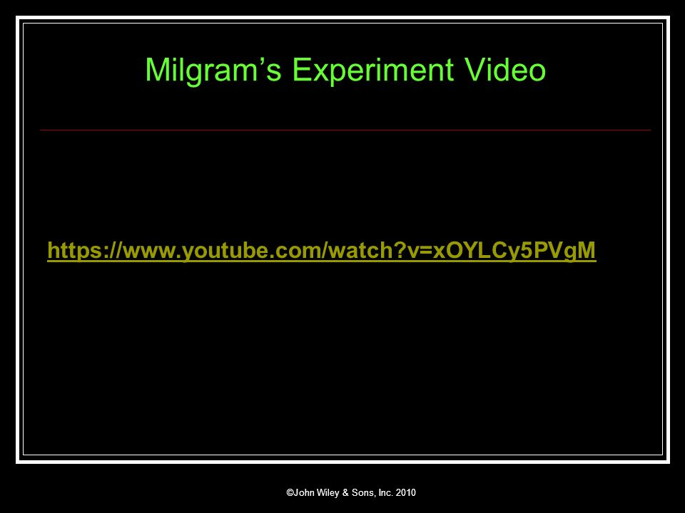 Milgram's Experiment Video