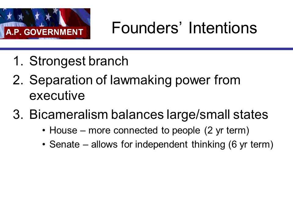 Founders' Intentions Strongest branch