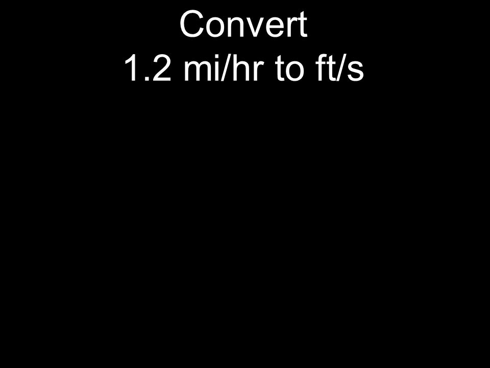 Convert 1.2 mi/hr to ft/s