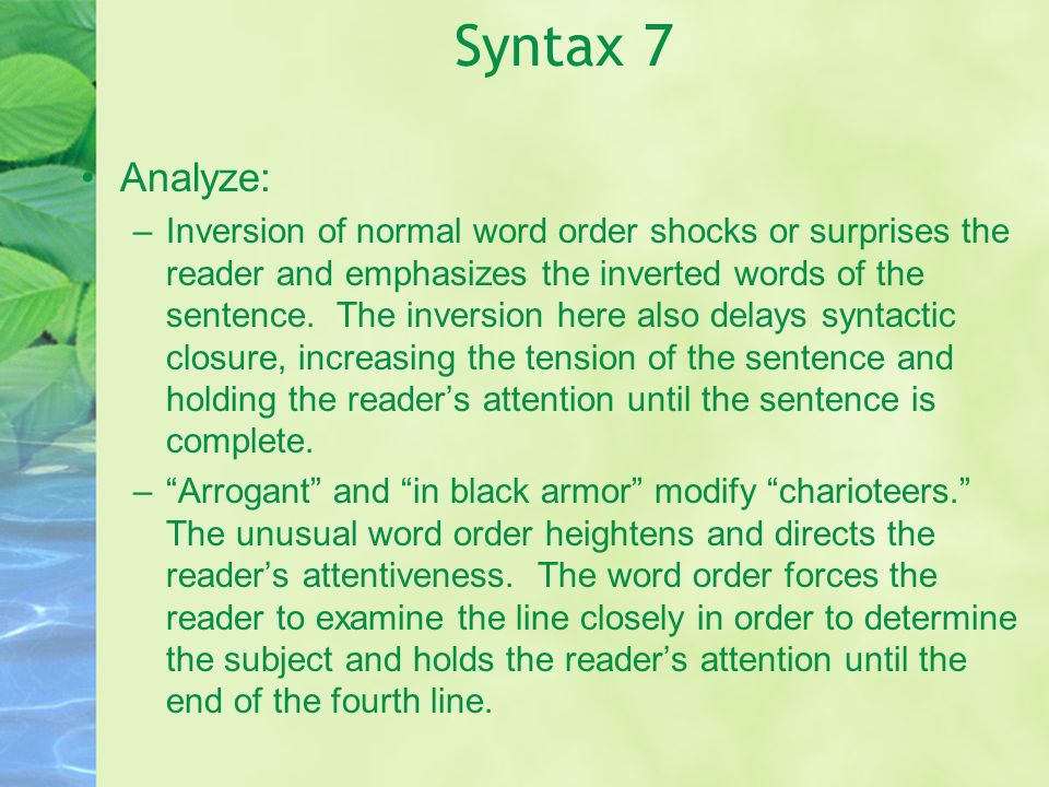 Syntax 7 Analyze: