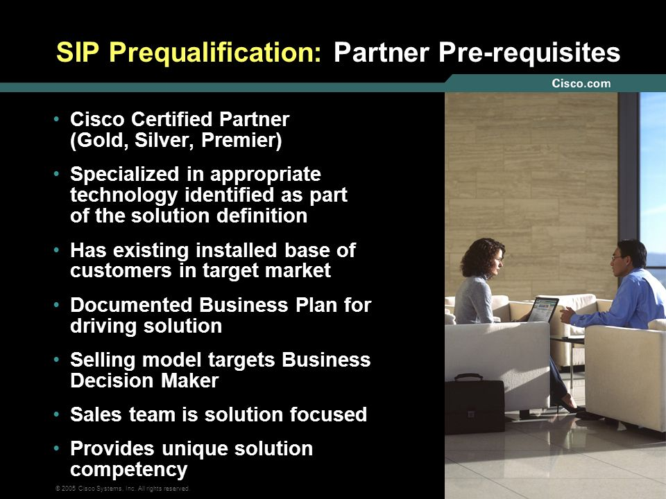 SIP Prequalification: Partner Pre-requisites