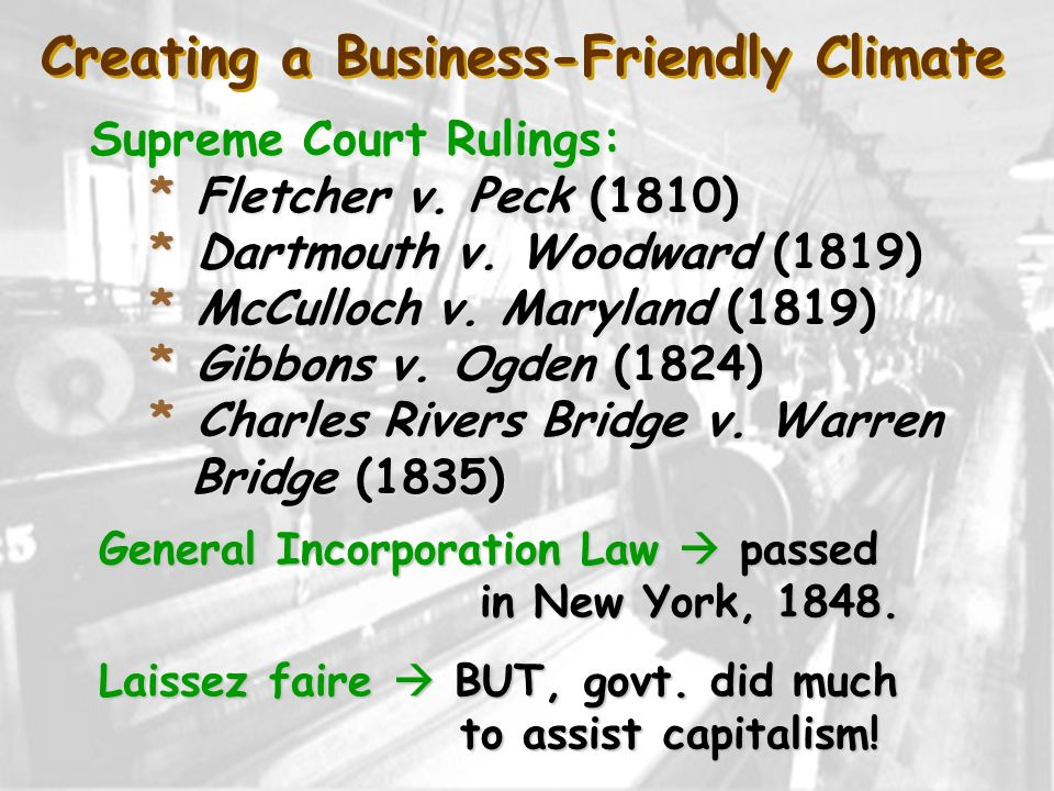 Creating a Business-Friendly Climate
