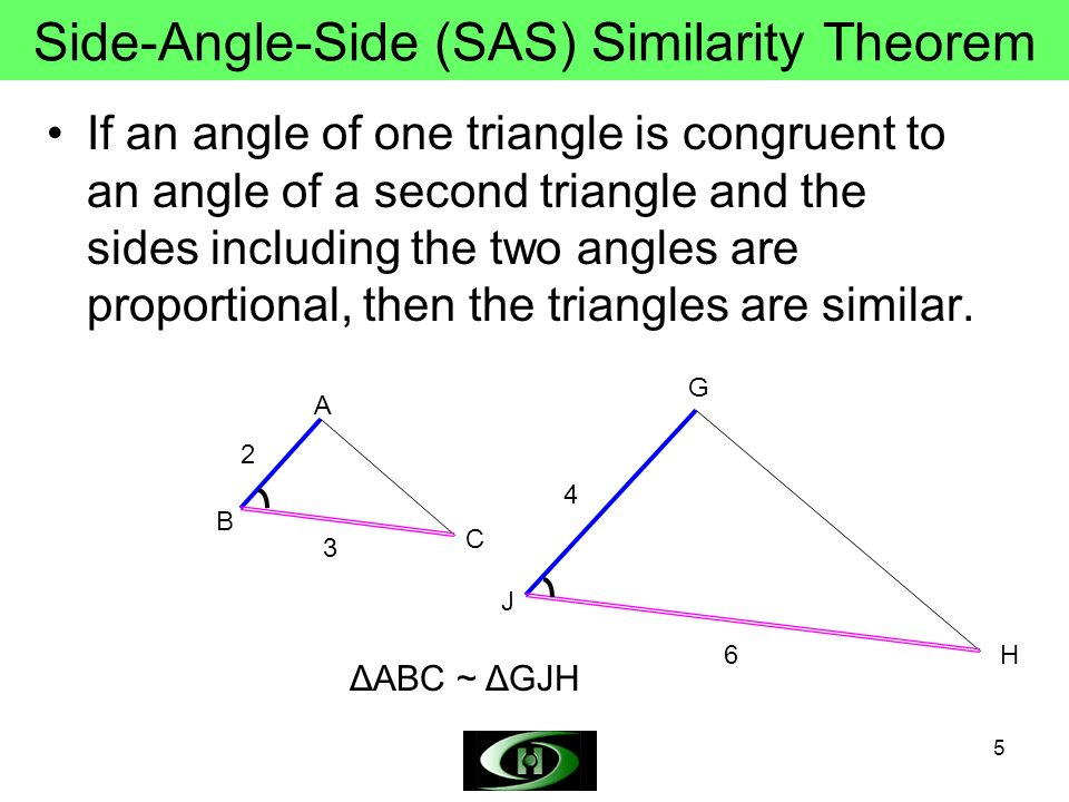 Side-Angle-Side (SAS) Similarity Theorem