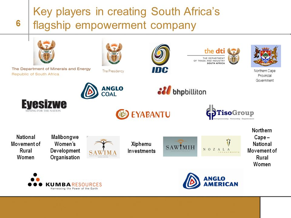 Key players in creating South Africa's flagship empowerment company