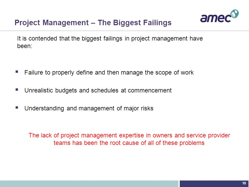 Project Management – The Biggest Failings