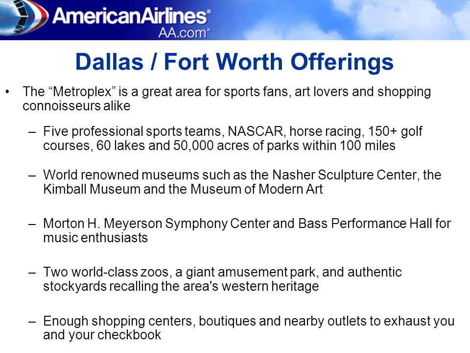 Dallas / Fort Worth Offerings