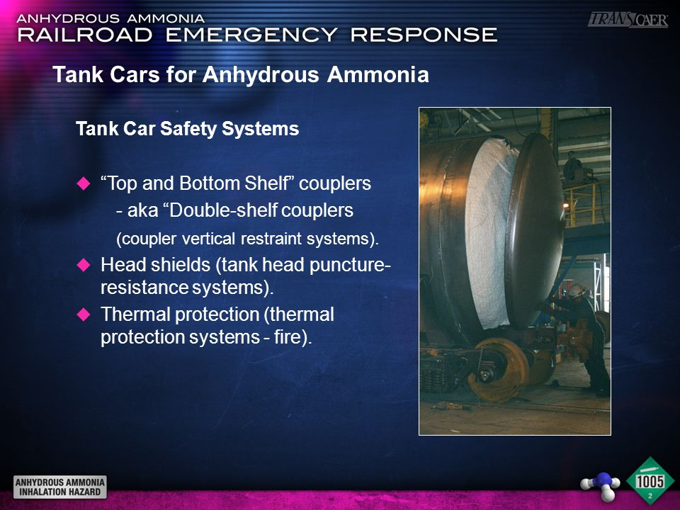 Tank Cars for Anhydrous Ammonia