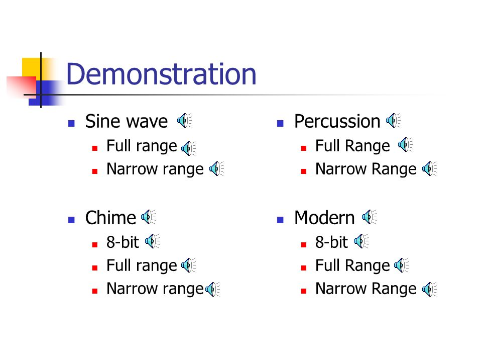 Demonstration Sine wave Chime Percussion Modern Full range
