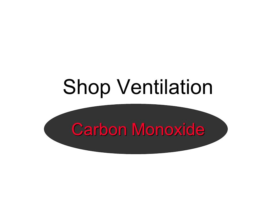 Shop Ventilation Carbon Monoxide