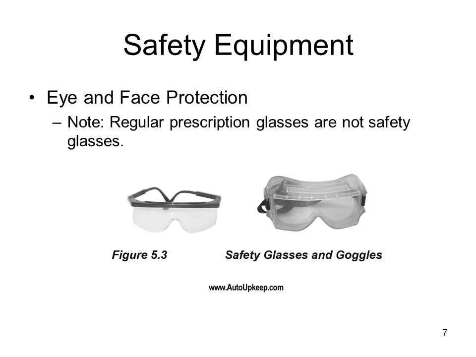 Safety Equipment Eye and Face Protection