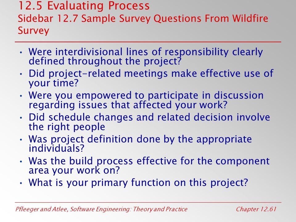 chapter 12 evaluating products processes and resources ppt download