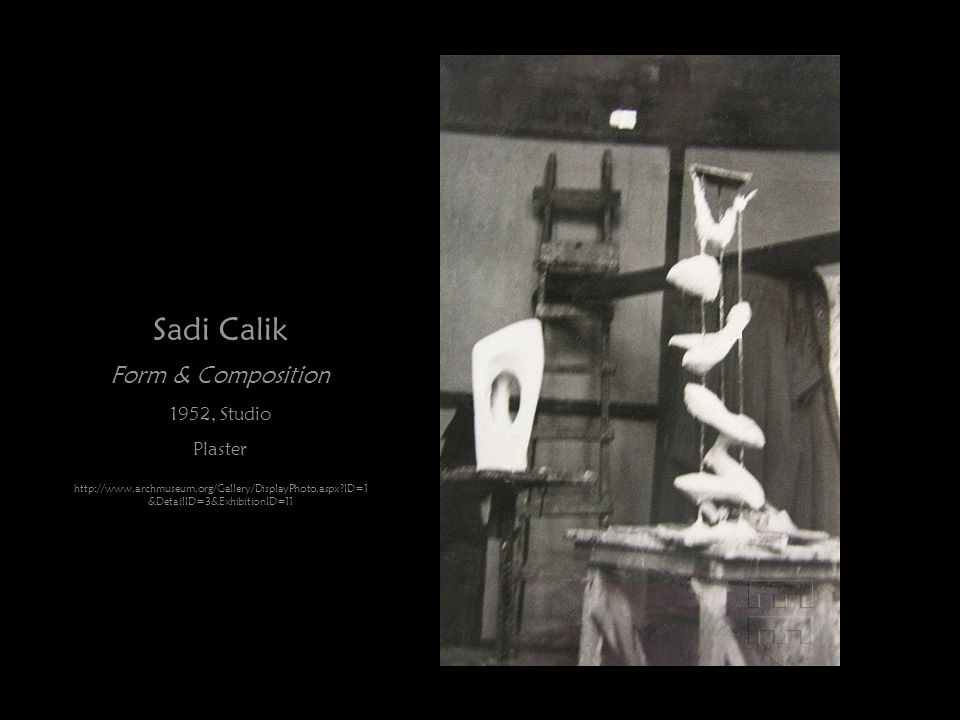 Sadi Calik Form & Composition 1952, Studio Plaster