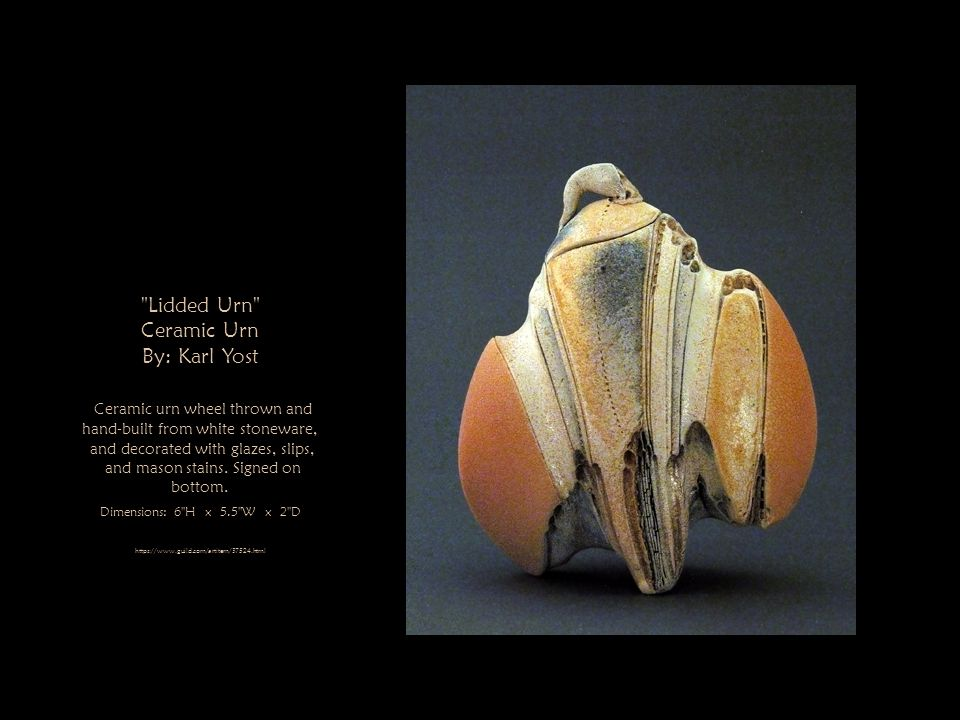 Lidded Urn Ceramic Urn By: Karl Yost